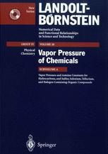Vapor Pressure and Antoine Constants for Hydrocarbons, and S, Se, Te, and Halogen Containing Organic Compounds