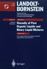 Pure Organometallic and Organononmetallic Liquids, Binary Liquid Mixtures