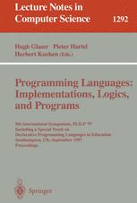 Programming Languages: Implementations, Logics, and Programs