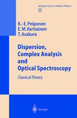 Dispersion, Complex Analysis and Optical Spectroscopy