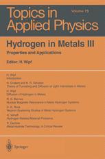 Hydrogen in Metals III