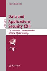 Data and Applications Security XXII