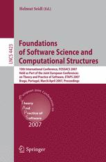 Foundations of Software Science and Computational Structures