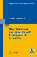 Mean Oscillations and Equimeasurable Rearrangements of Functions