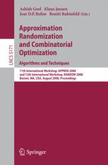 Approximation, Randomization and Combinatorial Optimization. Algorithms and Techniques