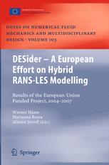 DESider – A European Effort on Hybrid RANS-LES Modelling