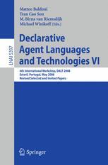Declarative Agent Languages and Technologies VI