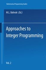 Approaches to Integer Programming