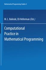Computational Practice in Mathematical Programming