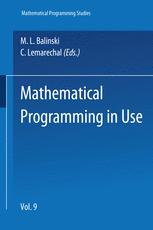 Mathematical Programming in Use