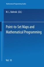 Point-to-Set Maps and Mathematical Programming