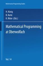 Mathematical Programming at Oberwolfach