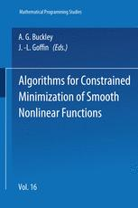 Algorithms for Constrained Minimization of Smooth Nonlinear Functions
