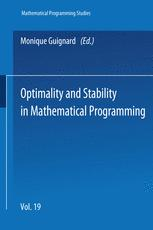 Optimality and Stability in Mathematical Programming