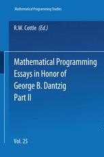 Mathematical Programming Essays in Honor of George B. Dantzig Part II