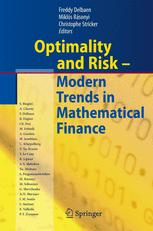 Optimality and Risk - Modern Trends in Mathematical Finance