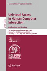 Universal Access in Human-Computer Interaction. Applications and Services