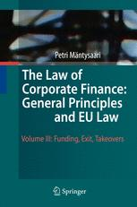 The Law of Corporate Finance: General Principles and EU Law