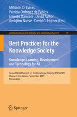 Best Practices for the Knowledge Society. Knowledge, Learning, Development and Technology for All