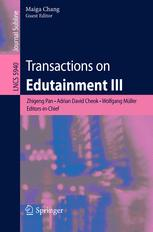 Transactions on Edutainment III