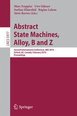 Abstract State Machines, Alloy, B and Z