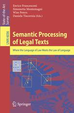 Semantic Processing of Legal Texts