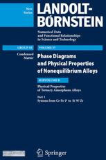 Physical Properties of Ternary Amorphous Alloys. Part 3: Systems from Cr-Fe-P to Si-W-Zr