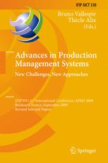 Advances in Production Management Systems. New Challenges, New Approaches