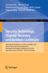 Security Technology, Disaster Recovery and Business Continuity