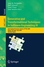 Generative and Transformational Techniques in Software Engineering III