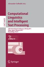 Computational Linguistics and Intelligent Text Processing