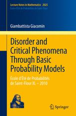 Disorder and Critical Phenomena Through Basic Probability Models