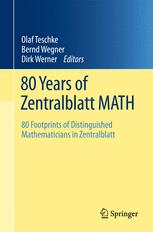 80 Years of Zentralblatt MATH