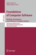 Foundations of Computer Software. Modeling, Development, and Verification of Adaptive Systems