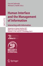Human Interface and the Management of Information. Interacting with Information