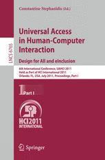 Universal Access in Human-Computer Interaction. Design for All and eInclusion