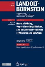 Binary Liquid Systems of Nonelectrolytes III