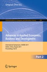Advances in Applied Economics, Business and Development