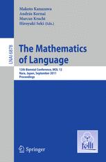 The Mathematics of Language