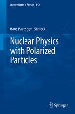 Nuclear Physics with Polarized Particles