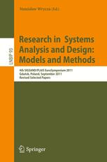Research in Systems Analysis and Design: Models and Methods