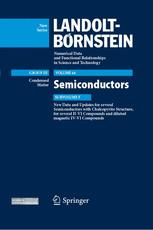 New Data and Updates for several Semiconductors with Chalcopyrite Structure, for several II-VI Compounds and diluted magnetic IV-VI Compounds