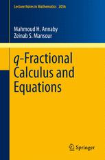 q               -Fractional Calculus and Equations