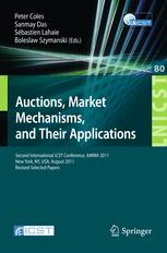 Auctions, Market Mechanisms, and Their Applications