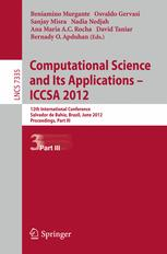 Computational Science and Its Applications – ICCSA 2012