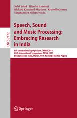 Speech, Sound and Music Processing: Embracing Research in India