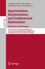 Approximation, Randomization, and Combinatorial Optimization. Algorithms and Techniques