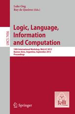 Logic, Language, Information and Computation