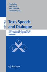 Text, Speech and Dialogue