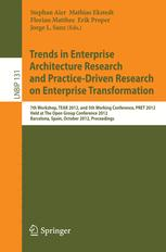 Trends in Enterprise Architecture Research and Practice-Driven Research on Enterprise Transformation